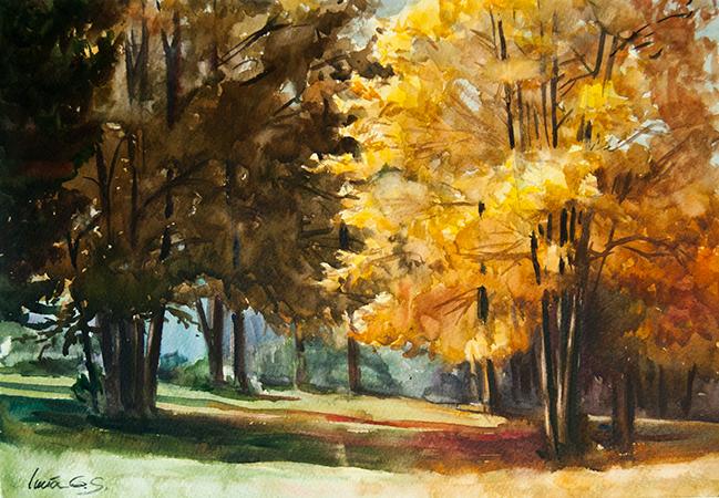 Monte en otoño - Acuarela / Watercolour - © Lucía Gómez Serra