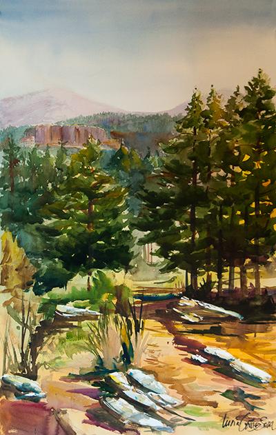 Prado de Santa Lucía - Acuarela / Watercolour - © Lucía Gómez Serra