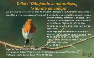 "Taller: ""Dibujando la naturaleza, la libreta de campo"""