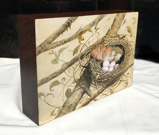Nido – Óleo sobre madera / Oil painting on wood - © Lucía Gómez Serra