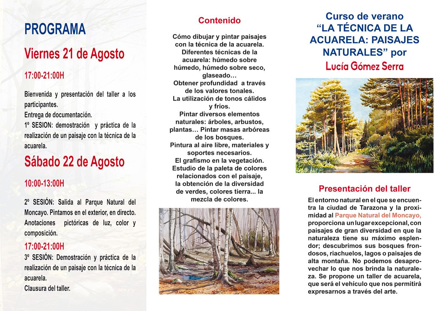 Paisajes naturales - Programa